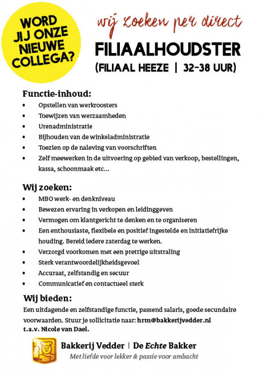 Vacature-FHHeeze